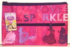 Disney Princess Large Pencil Case With 2 Zippers