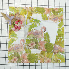 1set  Flamingo Napkins Paper Tissue Decoupage Wedding Party Handkerchief Towel!
