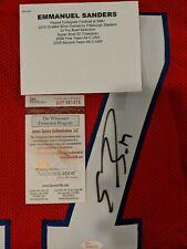 Emmanuel Sanders Autographed/Signed SMU Mustangs Red XL Jersey JSA