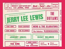 """Jerry Lee Lewis Southend 16"""" x 12"""" Photo Repro Concert Poster"""
