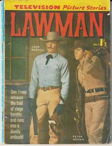 Australian Western Comic: Lawman #7 Junior Readers' Press 1962 Photo Cover