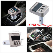 5V 3.1A Car Cigarette Lighter 3 Ports USB Quick Charger For Cell Phones Voltage