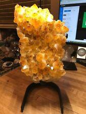 Citrine Crystal Mineral Gemstone Energizing Sunny Healer Geode Specimen 789