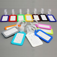 Luggage Id Tags Labels Name Address Id Suitcase Bag Travel Various Colours Avail