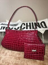 VINTAGE MOSCHINO BAG & WALLET ~RARE!~ Red Handbag Clutch Purse Redwall Satchel