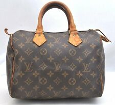 Authentic Louis Vuitton Monogram Speedy 25 Hand Bag M41528 LV A2185