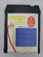 The Moody Blues Self Titled 8 Track Tape Cartridge Nights in White Satin Tested