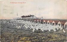 A WASHINGTON CHICKEN RANCH PORTALND OREGON TO TONOPAH NEVADA POSTCARD 1913
