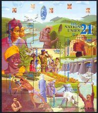 UN (G) 2000 Welfare/Dove/Dam/Military/Food/Rice/Building 6v sht (n31663b)