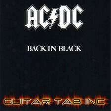 AC/DC Digital Guitar Tab BACK IN BLACK PDF Lessons on Disc Angus Young