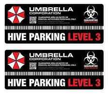 Umbrella Corporation Hive Parking Level 3 Resident Evil Vinyl Decal Sticker