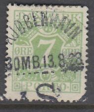 DENMARK : 1927 Postage Due  7 ore apple-green  SG D225  used