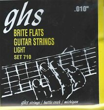 GHS 710 Brite Flats electric guitar strings, Light .010-.046