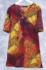 Ulla Popken Cheetah Daydream Knit Tunic 24 26 3X NEW  **