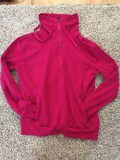 Fabletics Half Zip Up Pink Fuchsia Sweatshirt S Small Cotton Fit Kate Hudson