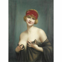 LMOP870 100% hand painted half naked lovely girl art oil painting on canvas