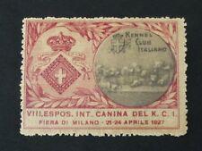 ERINNOFILO  ESPOSIZIONE CANINA 1927 <
