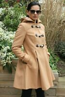 ASOS Camel Beige Hooded Duffle Dolly Skirt Coat Trench Parka Jacket 4 to 18 New
