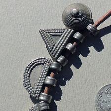 10 old antique hand made silver telsum pendant amulet beads ethiopia