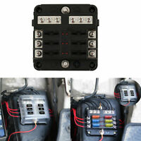 6 Way Blade Fuse Box & Bus Bar Car Kit With Cover Marine FuseBox Holder 12V/32V