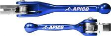New Apico Flexi Brake & Clutch Levers YZ 125 250 01-07 YZF 250 450 01-06 Blue