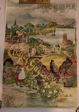 Affiche poster chemins de fer Chatel Guyon Vintage
