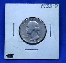 1935 D Silver Washington Quarter