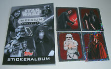 Topps Star Wars factfiles sticker Imperio-album + todos 84 sticker