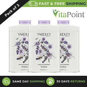 Yardley London English Lavender Perfumed Talc Powder 200 g / Pack Of 3