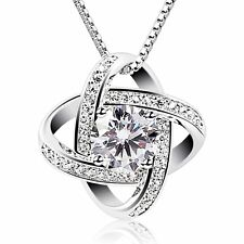 [BIRTHDAY GIFTS FOR WIFE GIRLFRIEND MOM] CUBIC ZIRCONIA PENDANT GEMINI NECKLACE