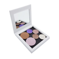 Compact Empty Magnetic Makeup Organiser - Gloss White with Mirror Z Palette