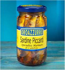 Sardines Épicé en Huile de Tournesol - Spécialité Calabrese - Vase de 200 Gr