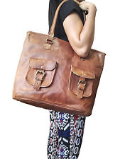 New Genuine Leather Tote Handbag Vintage Shopping Women's Shoulder Purse Bag