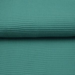 Waffelstoff - Waffelpique - Smaragdgrün