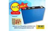 Lithium Iron Phosphate LiFePo4 3.2 V Cell 100Ah Rechargeable Battery