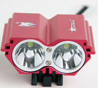 U2 XML 2 CREE MTB Front Light Bicycle Mountain Bike Road w/ Charger & Battery