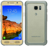 Samsung Galaxy S7 Active G891A 32GB Gold AT&T Gsm Smartphone Unlocked New Inbox