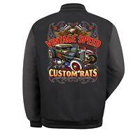 Hotrod 58 American Red Kap Garage Bomber Jacket Hot Rat Rod Vintage Rats Car 281