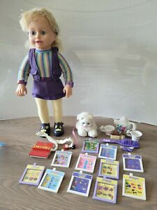 Vintage Amazing Ally Doll TESTED WORKING Accessories Pet Cartridges Book Reader