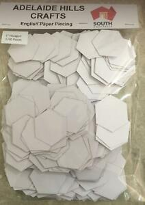 """1200 x 1"""" Hexagon's English Paper Piecing Laser Cut Papers Quilting Sewing Bulk"""