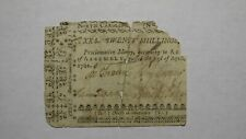 1761 Twenty Shillings North Carolina NC Colonial Currency Note Bill! 20s! RARE