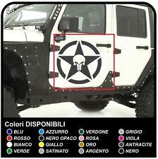 adesivi laterali portiera jeep Wrangler e Renegade teschio Skull the Punisher