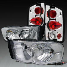 2002-2005 Ram 1500/2500/3500 Pickup Clear Headlights+Tail Lights Brake Lamps