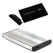 """IDE BOX CASE SLIM ESTERNO HARD DISK 2,5"""" HD HDD USB 2,5 CAVO ADATTATORE DRIVE"""