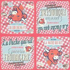 2 serviettes en papier Publicité Vache qui rit Paper Napkins French Cheese Cow
