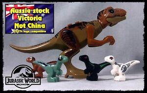 Dinosaur, T Rex, 4 baby dinosaurs. Jurassic World Toy lego