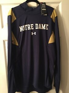 NWT Under Armour Notre Dame Basketball Warm Up Hoodie M