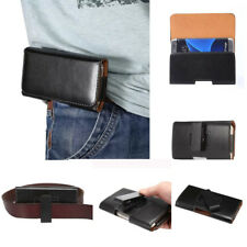 Luxury Clip Pouch Belt Holster Card PU Leather Black Soft Case Cover For Phones
