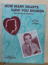 How Many Hearts Have You Broken - 1953 sheet music - George Paxton photo