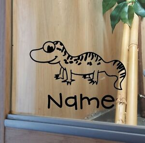Leopard Gecko Customised Vivarium Decal Sticker